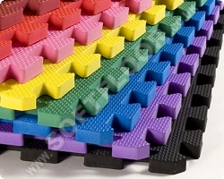 Coloured Safety Matting/red/blue/black